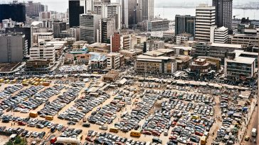 Central business district on Lagos Island, Lagos, Nigeria, 2009
