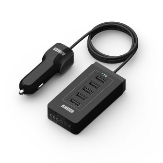 Anker-40W-5-Port-USB-Car-Charger