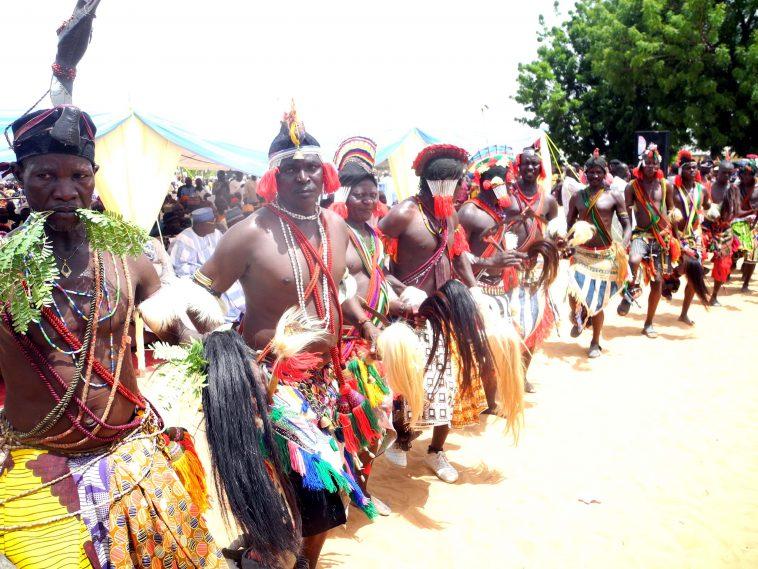 PIC. 2. DADIYA CULTURAL DANCERS PERFORMING AT THE FIRST ANNUAL CULTURAL FESTIVAL OF DADIYA COMMUNITY IN BALANGA LOCAL GOVERNMENT AREA OF GOMBE STATE ON SATURDAY. 4018/14/6/2015/IMK/BJO/NAN