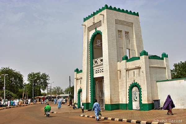 The entrance to the Sultan's palace, Sokoto, Nigeria