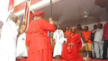 Paying homage to Oba of Benin