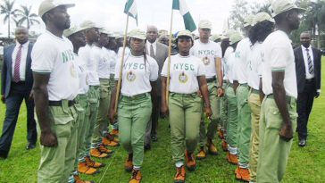 PIC. 13. GOV. CHIBUIKE AMAECHI OF RIVERSINSPECTING A GUARD OF HONOUR AT THE PASSING OUTCEREMONY OF NYSC BATCH 'C' CORPS MEMBERS IN PORT HARCOURT ON THURSDAY (10/10/13).