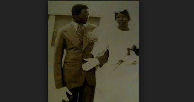 An-Old-Photo-Of-Adams-Oshiomhole-During-His-Wedding-To-His-Late-Wife-Clara