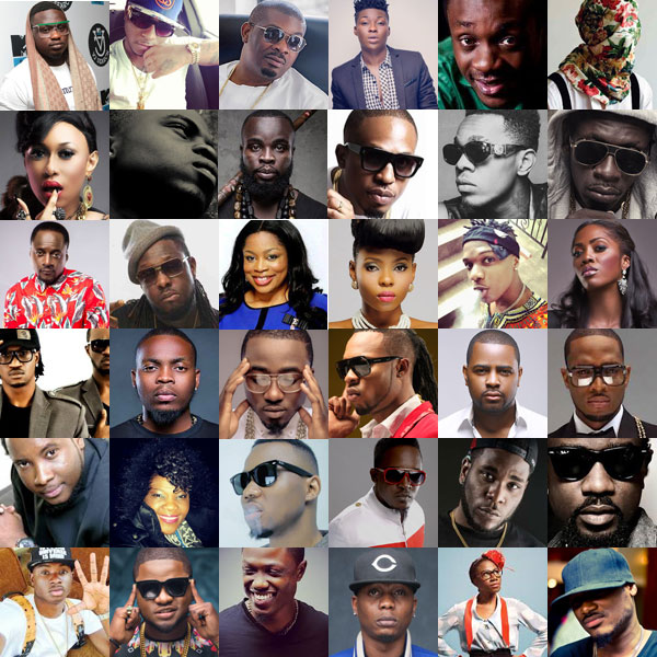 This are the photos of Nigerian artists in square