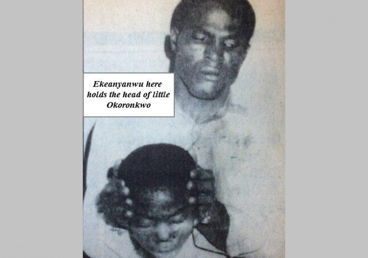 The-Otokoto-Ritual-Killings-of-1996-Ekeanyanwu-holding-the-head-of-the-young-Okoronkwo