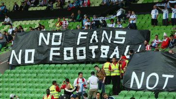 MELBOURNE, AUSTRALIA - NOVEMBER 27:  Melbourne City fans hold up signs during the round eight A-League match between Melbourne City FC and Perth Glory at AAMI Park on November 27, 2015 in Melbourne, Australia.  (Photo by Robert Cianflone/Getty Images)