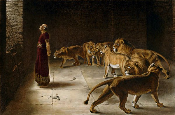 Daniel-in-the-den-of-the-lions-in-the-bible