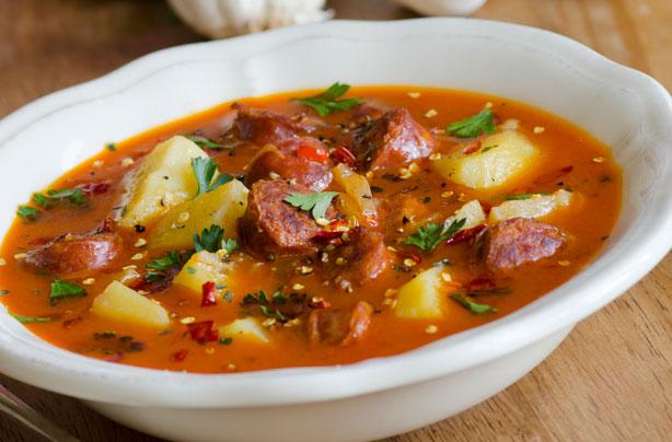 Spanish-style-potato-and-chorizo-soup
