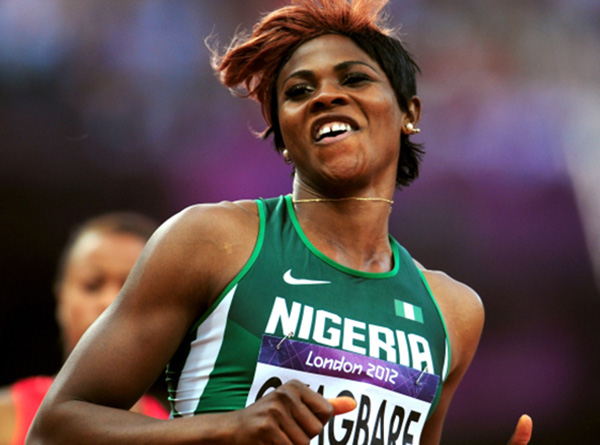 LONDON, ENGLAND - AUGUST 03:  Blessing Okagbare of Nigeria competes in the Women's 100m Round 1 Heats on Day 7 of the London 2012 Olympic Games at Olympic Stadium on August 3, 2012 in London, England.  (Photo by Stu Forster/Getty Images)