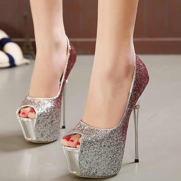 Super-high-heels-16cm-fashion-women-shoes-Stiletto-matel-Heel-sexy-high-heels-pointed-toe-sequined