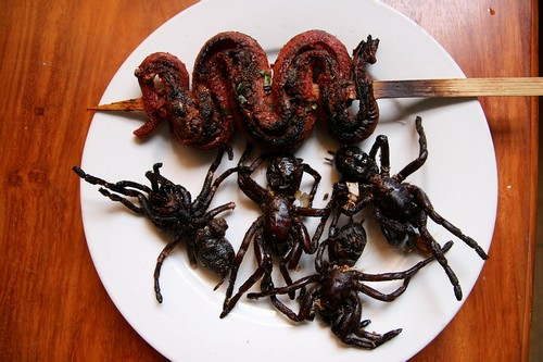 Fried-Spider-and-Snak