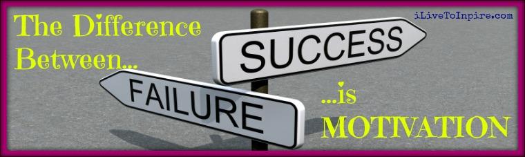 using failure as a motivator