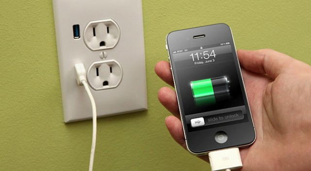 charging an iPhone