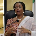 Diezani Allison-Madueke speaking at a media briefing