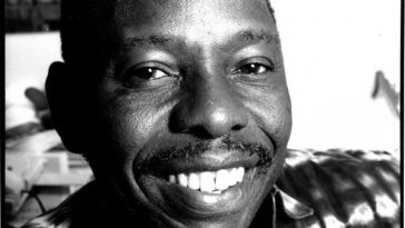 Ken Saro-Wiwa, one of nine Ogoni community activists executed after a grossly unfair trial in 1995.