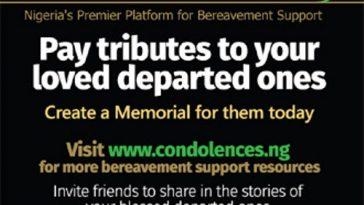 Online Condolence Register