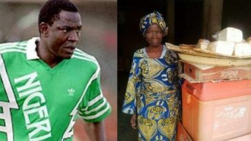 Rashidi Yekini and mother