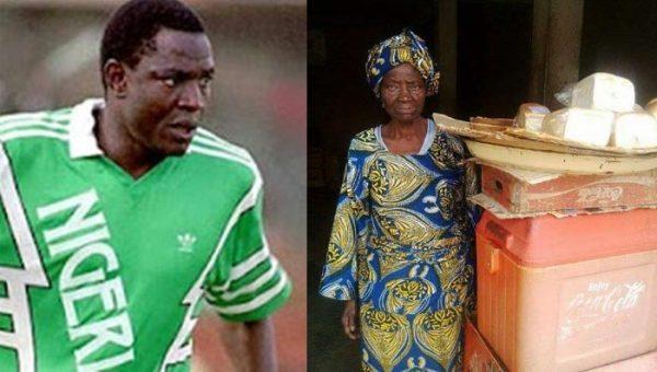 Rashidi Yekini and mother