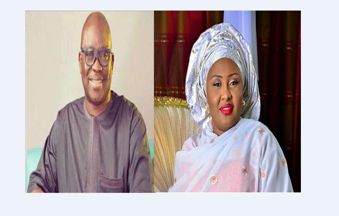 ayodele fayose and aisha buhari