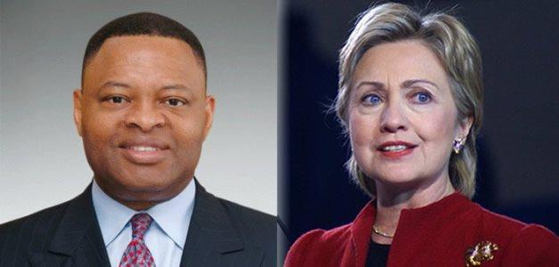 Kase Lawal and Hillary Clintonsource: fojusi.com