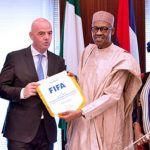 NFF President, Amaju Pinnick, FIFA President, Gianni Infantino, FIFA Secretary General,