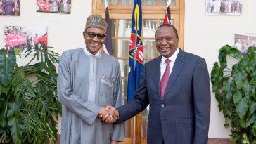 President Buhari and President Kenyatta of Kenya