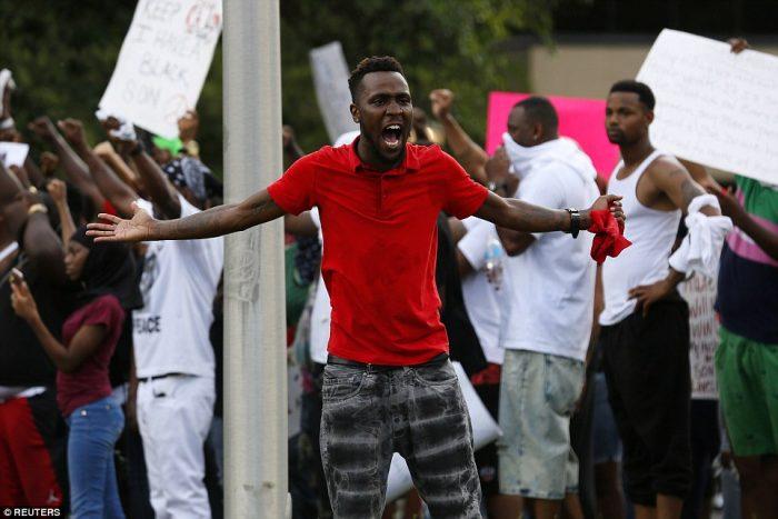 angry funaab protest