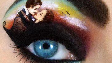 artistic makeup eyelid