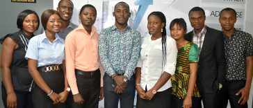 Wole Sawe with Jethights Staff