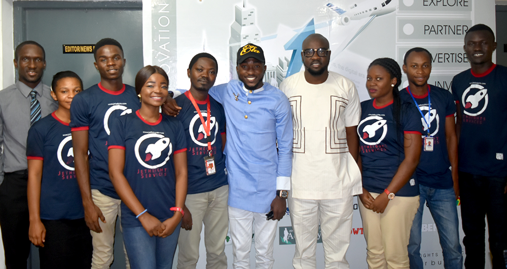 Babatunmise with Jetheights Staff