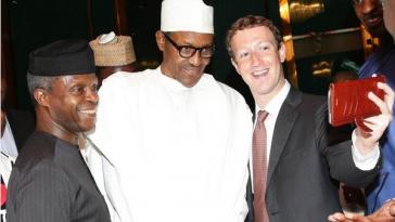 Osinbajo, Buhari and Mark Zuckerberg