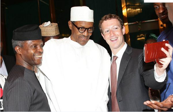 Osinbajo, Buhari and Mark Zuckerberg