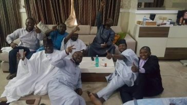 yahaya-bello and his Aides Image source: www.6ters.com
