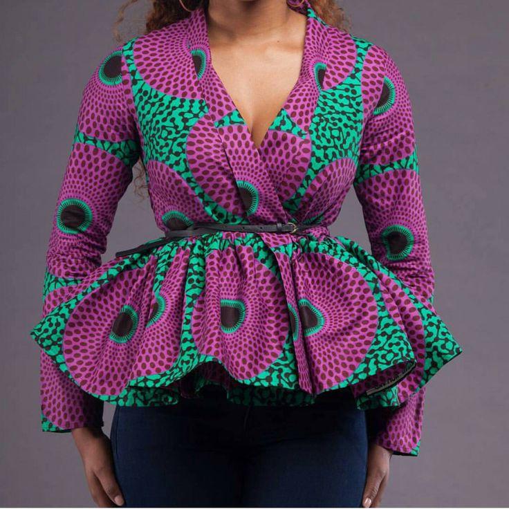 996fa38577095 Necessary Peplum Ankara Tops Every Fashionable Lady Should Have ...