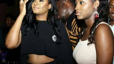 omotola-jalade-and-daughter-exposes-belly