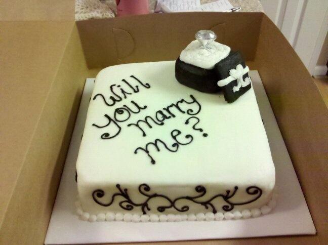 proposal-cake