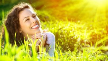 sun relaxation women rays meadow