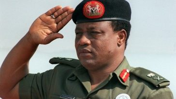 "(FILES) -- File picture dated 31 August 1986 shows Nigeria's strongman General Ibrahim Babangida saluting during the 8th summit of Non Allied Nations held in Harare. Nigeria's former military dictator, General Ibrahim Babamosi Babangida, better known by his initials IBB, has dropped his bid to be presidential candidate of the ruling Peoples Democratic Party (PDP). ""I wish to convey to you my intention to withdraw from the PDP nomination process,"" Babangida told Nigerian President Olusegun Obasanjo in a letter seen 11 December 2006 by AFP.      AFP PHOTO DOMINIQUE FAGET  (Photo credit should read DOMINIQUE FAGET/AFP/Getty Images)"