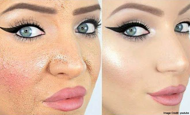 Makeup under eyes looks cakey