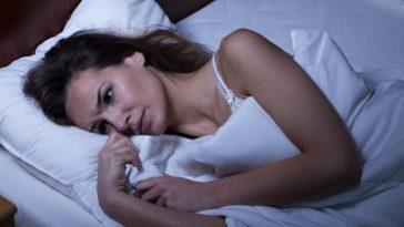 Lady unable to sleep