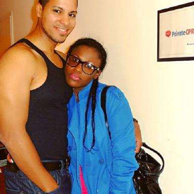 throwback photo of Uche Jombo and her husband