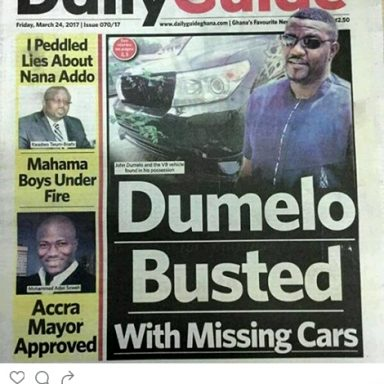 dumelo car theft