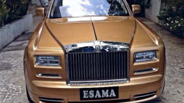 GOLD Rolls-Royce Phantom, Most expensive cars in Nigerian roads