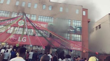 LG, Bedmate Showroom caught fire