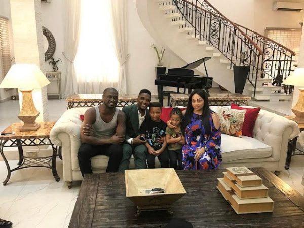 Samuel Eto'o Visits Peter Okoye