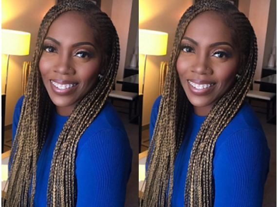 Tiwa savage in braids