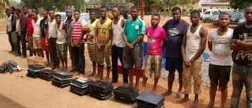 30 yahoo boys arrested in Ghana