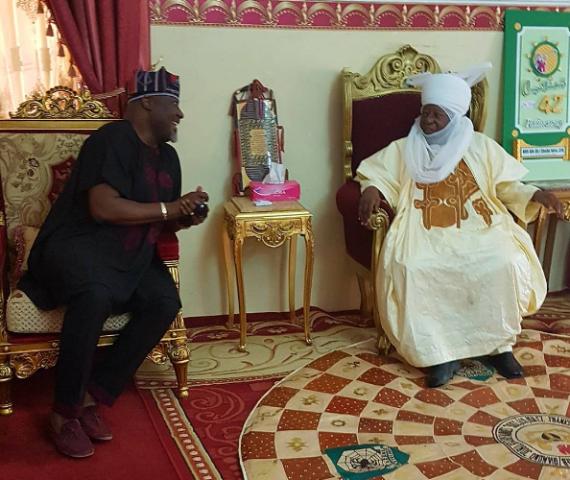 Dino Melaye visits the Emir of Zaria