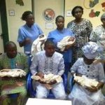 ceremony of Nigerian quintuplets in Abuja