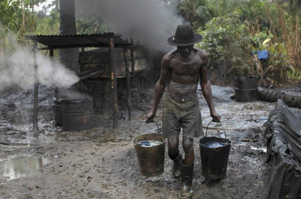 Illegal Refinery in Niger Delta